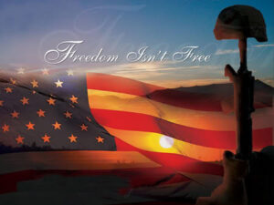 Remembering all the son's and daughters who have given there all for our freedom.